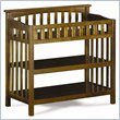 ADD TO YOUR SET: Atlantic Furniture Columbia Changing Table in Antique Walnut