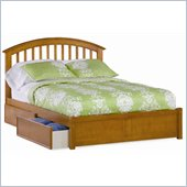 Atlantic Furniture Studio Richmond Platform Bed with Flat Panel Footboard in Caramel Latte