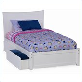 Atlantic Furniture Studio Metro Platform Bed with Flat Panel Footboard in White