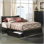 Atlantic Furniture Studio Soho Platform Bed with Flat Panel Footboard in Espresso
