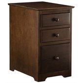 Atlantic Furniture 3 Drawer File Cabinet in Antique Walnut