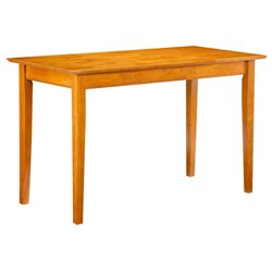 Atlantic Furniture Shaker Work Table in Caramel Latte