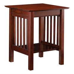 Atlantic Furniture Mission Printer Stand in Antique Walnut