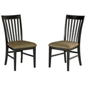 Atlantic Furniture Mission Side Chair in Espresso (Set of 2)