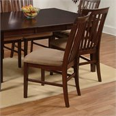 Atlantic Furniture Mission Side Chair in Antique Walnut (Set of 2)