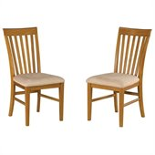 Atlantic Furniture Mission Side Chair in Caramel Latte (Set of 2)