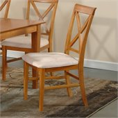 Atlantic Furniture Lexington Side Chair in Caramel Latte (Set of 2)