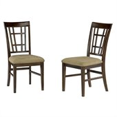 Atlantic Furniture Montego Bay Side Chair in Antique Walnut (Set of 2)