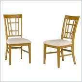 Atlantic Furniture Montego Bay Side Chair in Caramel Latte (Set of 2)