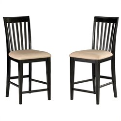 Atlantic Furniture Mission Pub Dining Chair in Espresso (Set of 2)
