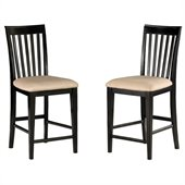 Atlantic Furniture Mission Pub Chair in Espresso (Set of 2)