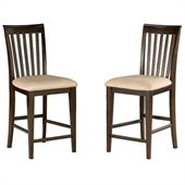 Atlantic Furniture Mission Pub Chair in Antique Walnut (Set of 2)