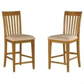Atlantic Furniture Mission Pub Chair in Caramel Latte (Set of 2)