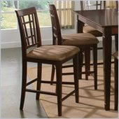Atlantic Furniture Montego Bay Pub Chair in Antique Walnut (Set of 2)