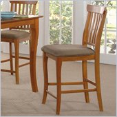 Atlantic Furniture Venetian Pub Chair in Caramel Latte (Set of 2)