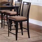 Atlantic Furniture Montreal Pub Chair in Espresso (Set of 2)