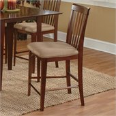 Atlantic Furniture Montreal Pub Chair in Antique Walnut (Set of 2)