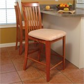 Atlantic Furniture Montreal Pub Chair in Caramel Latte (Set of 2)