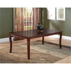 Atlantic Furniture Venetian Dining Table in Antique Walnut
