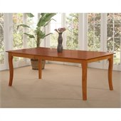 Atlantic Furniture Venetian Dining Table in Caramel Latte