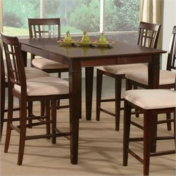 Atlantic Furniture Deco Counter Height Pub Dining Table in Antique Walnut