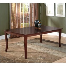Atlantic Furniture Venetian Counter Height Solid Pub Dining Table in Antique Walnut
