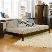 Atlantic Furniture Concord Antique Walnut Daybed with Open Footrail