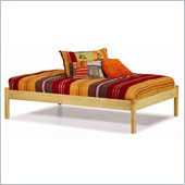 Atlantic Furniture Concord Natural Maple Daybed with Open Footrail