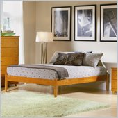 Atlantic Furniture Concord Caramel Latte Daybed with Open Footrail