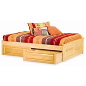 Atlantic Furniture Concord Raised Panel Daybed in Natural Maple