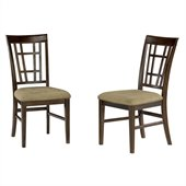 Atlantic Furniture Montego Bay Cappuccino Fabric Side Chair (Set of 2)