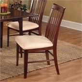 Atlantic Furniture Montreal Oatmeal Fabric Side Chair (Set of 2)