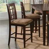 Atlantic Furniture Montego Bay Cappuccino Fabric Pub Chair (Set of 2)