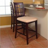 Atlantic Furniture Montego Bay Oatmeal Fabric Pub Chair (Set of 2)