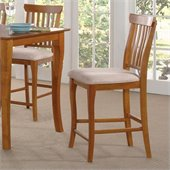 Atlantic Furniture Venetian Oatmeal Fabric Pub Chair (Set of 2)