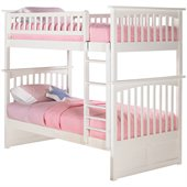 Atlantic Furniture Columbia Twin over Twin Bunk Bed in White