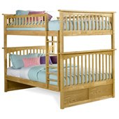 Atlantic Furniture Columbia Full over Full Bunk Bed in Natural Maple