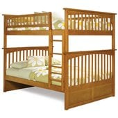 Atlantic Furniture Columbia Full over Full Bunk Bed in Caramel Latte
