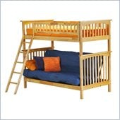 Atlantic Furniture Columbia Twin over Futon Bunk Bed in Natural Maple