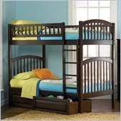 Atlantic Furniture Richmond 3 Piece Bunk Bed Complete Bedroom Set