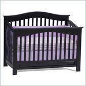 Atlantic Furniture Windsor Convertible Crib in an Espresso Finish