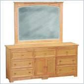 Atlantic Furniture Manhattan Dresser and Mirror Set in Maple
