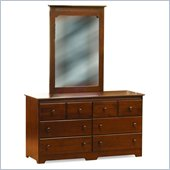 Atlantic Furniture Windsor Dresser and Mirror Set in Walnut