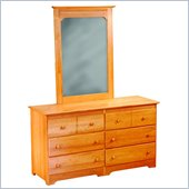 Atlantic Furniture Windsor Dresser and Mirror Set in Maple