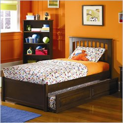 Atlantic Furniture Brooklyn Twin Platform Bed with Trundle