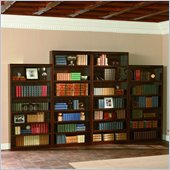 Atlantic Furniture Wall Bookcase in Antique Walnut