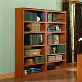 Atlantic Furniture 72 Inch Wall Bookcase in Caramel Latte