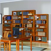 Atlantic Furniture Wall Bookcase in Caramel Latte