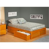Atlantic Furniture Concord Bed with Drawers in Caramel Latte