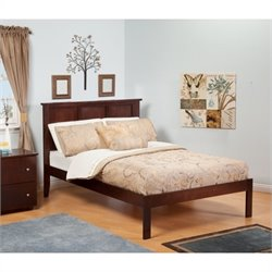 Atlantic Furniture Madison Bed with Open Foot Rail in Antique Walnut